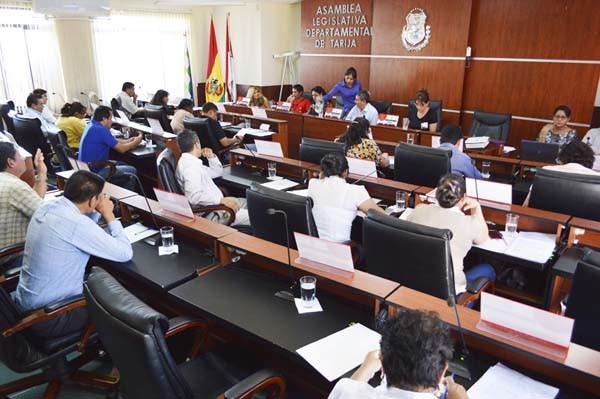 Asamblea Legislativa Departamental de Tarija. (Foto: elPeriódico Digital)