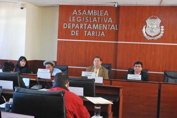 Asamblea Legislativa Departamental de Tarija. (Foto de archivo)