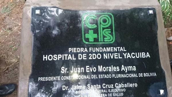 Piedra Fundamental del nuevo hospital de la CPS. (Foto: elchacoinforma.com)