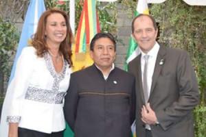 David Choquehuanca junto al embajador argentino Basteiro. (Foto: de archivo)
