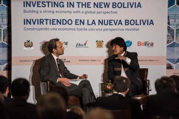 El Presidente Evo Morales participa de la Cubre de Inversión en la Nueva Bolivia. (Foto: ABI)