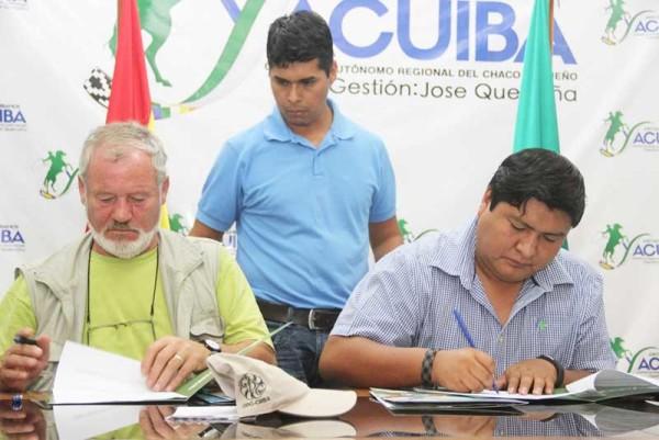 Firma de cartas de intenciones entre la Subgobernación y FAUTAPO. (Foto: Agencias)