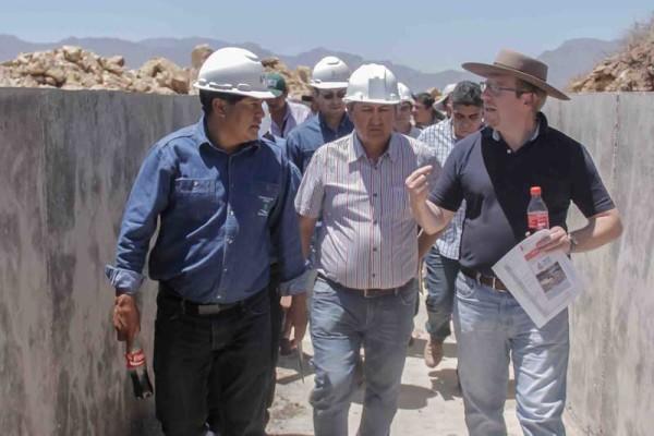 Inspección proyecto de sistema de riego Guadalquivir-Cenavit- Calamuchita. (Foto: Agencias)