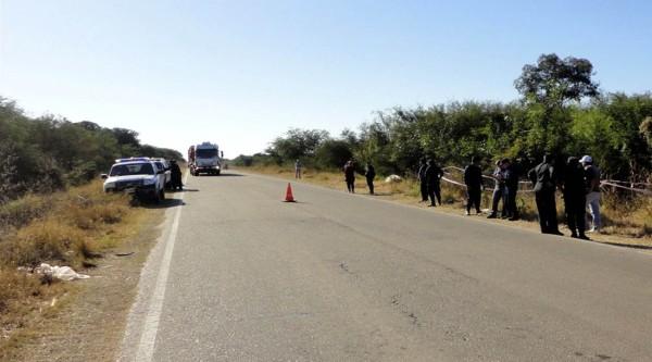La ruta 5 en el departamento de Anta (Salta), un peligro para productores y comerciantes. (Foto: El Tribuno)