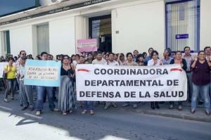 Los médicos en protesta por la Ley de Complementación. (Foto: Agencias)