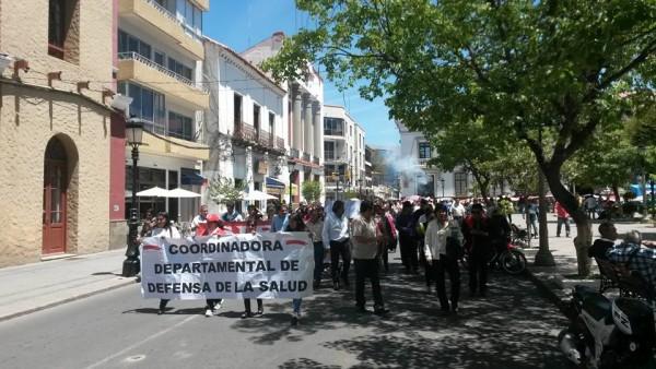 Marcha de CODESA en la ciudad de Tarija. (Foto: Andrés Aguirre)