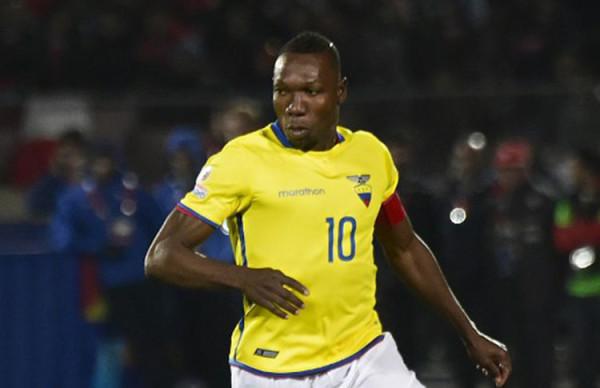 Walter Ayoví, uno de los referentes del equipo ecuatoriano. (Foto: AFP)