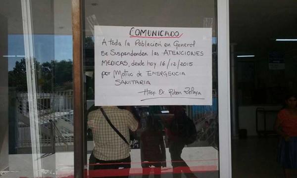 El hospital Rubén Zelaya permanece cerrado por precaución. (Foto: Ángel Arias Castro)