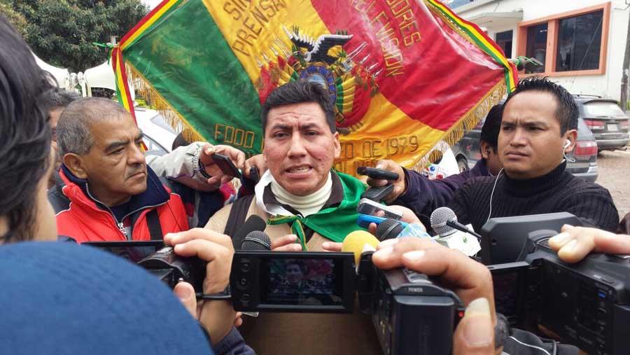 Leónidas Álvarez, ejecutivo del sindicato de trabajadores de la prensa de Yacuiba. (Foto: elchacoinforma.com)