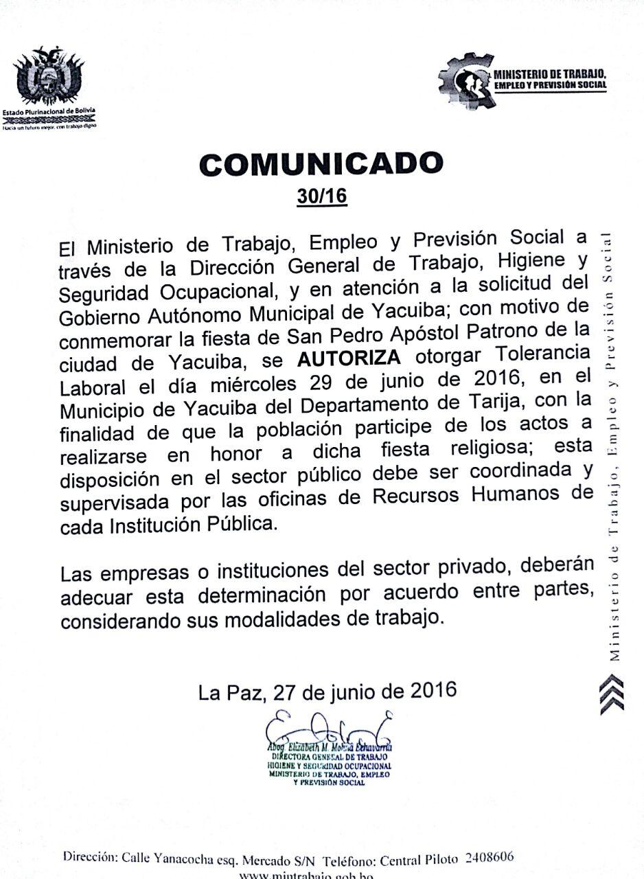 Tolerancia San Pedro