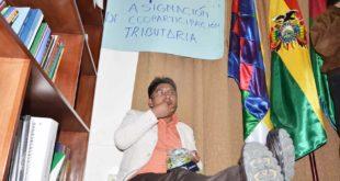 PATZI INICIA HUELGA DE HAMBRE EN DEMANDA DEL 4% DE COPARTICIPACIÓN TRIBUTARIA