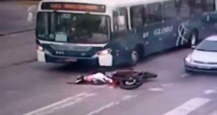 VIDEO ESCALOFRIANTE: SICARIOS ASESINAN A UN MOTOCICLISTA A PLENA LUZ DEL DÍA EN BRASIL