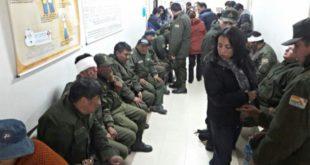 ONCE POLICÍAS HERIDOS CON DINAMITA Y PIEDRAS SON INTERNADOS EN EL HOSPITAL UNIVERSITARIO DE LA PAZ
