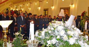 PRESIDENTE MORALES ASISTIÓ A VELORIO DE VICEMINISTRO ILLANES EN PALACIO DE GOBIERNO