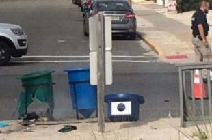 El artefacto estaba en un contenedor de basura. (Foto: Agencias)