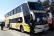 La Fuerza Especial de Lucha Contra el Narcotráfico confiscó el bus de la empresa El Dorado. (Foto: ABI)