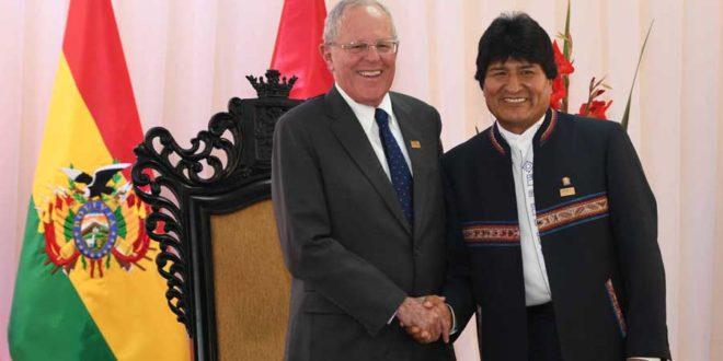 Morales y Kuczynski en la ciudad boliviana de Sucre(Foto: ABI)
