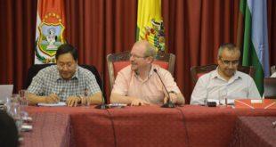 TRAS REUNIÓN CON EL MINISTRO ARCE, AUTORIDADES DEPARTAMENTALES COINCIDEN EN AUXILIO ECONÓMICO A TARIJA