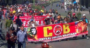 LA COB VUELVE A MEDIR FUERZAS CON UN PARO DE 48 HORAS CONTRA EL GOBIERNO