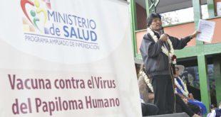 MORALES INAUGURA PROGRAMA NACIONAL DE VACUNA CONTRA EL PAPILOMA HUMANO