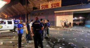 CUATRO MUERTOS Y MÁS DE 20 HERIDOS POR ESTAMPIDA EN ESTADIO DE FÚTBOL EN HONDURAS