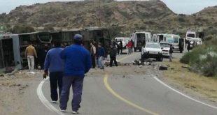 ARGENTINA: AL MENOS 15 MUERTOS POR VUELCO DE UN MICRO EN MENDOZA