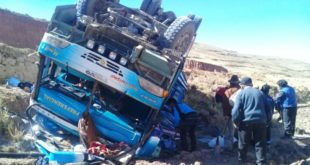 LA PAZ: DOS MUERTOS POR ACCIDENTE VIAL EN LA PROVINCIA CAMACHO