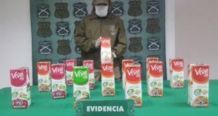 CHILE: DETIENEN A CUATRO BOLIVIANOS CON DROGA CAMUFLADA COMO JUGO