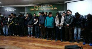 LA PAZ: POLICÍA CAPTURA CUATRO BANDAS DE ATRACADORES