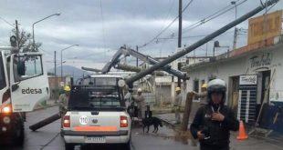 Temporal en Salta provoca caída de árboles, postes y voladura de chapas