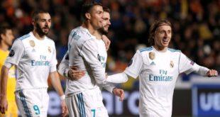 Champions: Real Madrid golea al Apoel y se clasifica para octavos de final