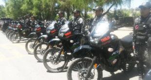 Tarija: Alcaldía entrega motocicletas a la Policía para seguridad ciudadana