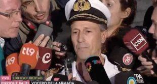 """""""Estamos esperando el peor escenario"""" informó el vocero de la Armada sobre el submarino desaparecido"""