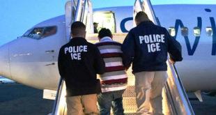 Un avión con 92 inmigrantes deportados regresa a EEUU por un problema logístico