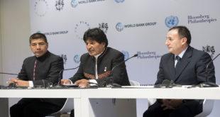 Evo Morales critica implicar al sector privado en lucha contra el calentamiento global