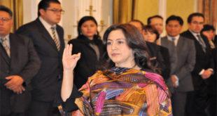 María del Carmen Almendras jura como nueva Vicecanciller