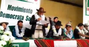 Forman alianza indígena contra la repostulación de Evo Morales