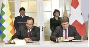 Bolivia y Suiza suscriben memorando por el bioceánico