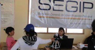 Tarija: Segip entrega 900 cédulas de identidad por día