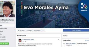 Evo Morales estrena su cuenta en Facebook