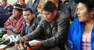 Organizaciones del MAS desconocen a Mitma en la COB
