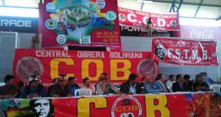 Congreso de la COB iniciará sesión plenaria el jueves para elegir a su nuevo Comité Ejecutivo