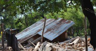 Gobierno identifica 315 viviendas destruidas por desastres