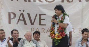 """Evo Morales asegura que en el 21F ganó el MAS por """"goleada"""""""