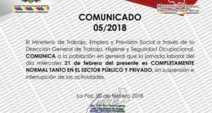 Ministerio de Trabajo comunica que mañana la jornada laboral es normal en el país